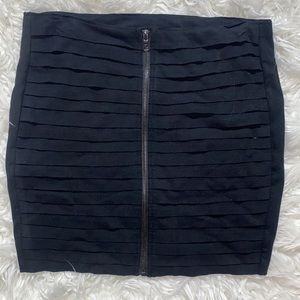 ‼️3/45.00 Boom Boom Jeans Black Zip Mini Skirt